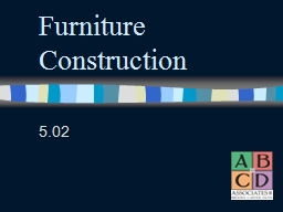 Furniture Construction 5.02 Types of Wood Hardwoods: come from deciduous trees (lose their leaves). Walnut, mahogany, pecan, cherry, maple, oak. Expensive, does not dent easily.