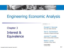 Engineering Economic Analysis Chapter  3 Interest & Equivalence PowerPoint PPT Presentation