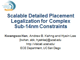 Scalable Detailed Placement Legalization for Complex  Sub-14nm