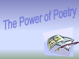 The Power of Poetry Table of Contents pages 1-2:  Acrostic Poems 	pages 18-19: Lantern