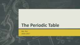 The Periodic Table  Ms. Pici  2016-2017 The Periodic Table Lay out PowerPoint PPT Presentation