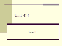 Unit 4!!!  Level F  Affable (adj) Sociable and pleasant; easy to talk to