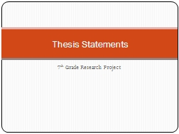 7 th  Grade Research Project Thesis Statements Research Report vs. Research Paper