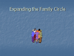 Expanding the Family Circle Expanding the Family Circle Module I PowerPoint PPT Presentation
