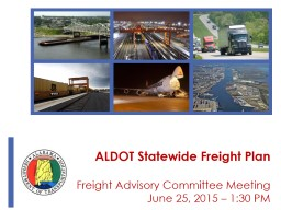 ALDOT Statewide Freight Plan Freight Advisory Committee Meeting