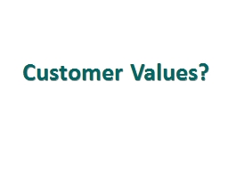 Customer Values? They review products to identify quality features such as style and technology.