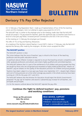 Derisory  Pay Offer Rejected BULLETIN NASUWT The Teach
