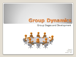 Group Dynamics Group Stages and Development Group 6 MSOD  613 PowerPoint PPT Presentation