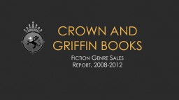 Crown and Griffin Books Fiction Genre Sales Report Summary This month, Crown and Griffin sold $14,110 in fiction books alone – just over half of our total revenue. We sell five genres of books: classics, mystery, romance, sci-fi and fantasy, and young adu