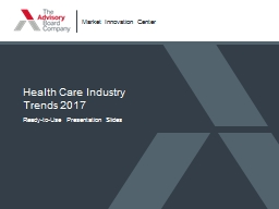 Health Care Industry  Trends 2017 Ready-to-Use Presentation Slides
