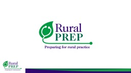 A Note to Facilitators Dear Facilitator,  Thank you for using Rural PREP's materials to create an active learning experience for your site. PowerPoint PPT Presentation