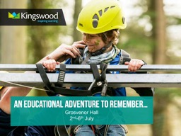 Grosvenor Hall 2 nd -6 th  July –  An Introduction  to Kingswood