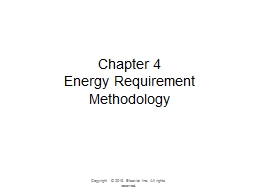 Chapter 4 Energy  Requirement Methodology Copyright © 2016 Elsevier Inc. All rights reserved.