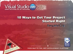 10 Ways to Get Your Project Started Right Benjamin Day Benjamin Day