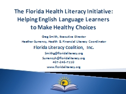 The Florida Health Literacy Initiative: Helping English Language Learners