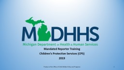 Mandated Reporter Training Children's Protective Services (CPS)