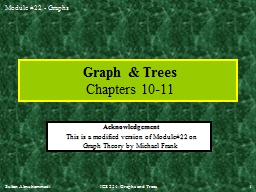 Sultan  Almuhammadi ICS 254: Graphs and Trees  1 Graph & Trees PowerPoint PPT Presentation