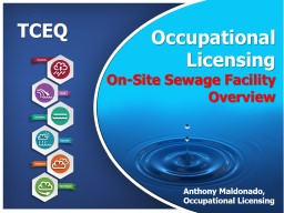 TCEQ Occupational    Licensing Backflow Prevention  Assembly