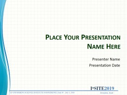 Place Your Presentation Name Here Presenter Name Presentation Date