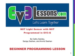 NXT Light Sensor with  NXT Programmed in EV3-G BEGINNER PROGRAMMING LESSON