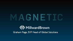 Graham Page, EVP Head of Global Solutions MULTIPLE AND CONFLICTING PERSPECTIVES ON WHAT