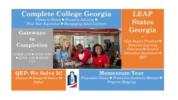 Complete College Georgia Fiftee n to Finish    Proactive Advising