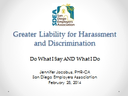 Greater  Liability for Harassment and Discrimination  Do  What I