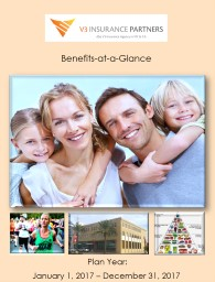 Plan Year:  January 1, 2017 – December 31, 2017  Benefits-at-a-Glance