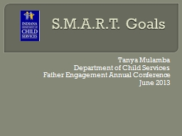 S.M.A.R.T. Goals Tanya Mulamba Department of Child Services