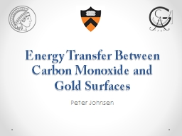 Energy Transfer Between Carbon Monoxide and