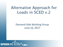 Alternative Approach for Loads in