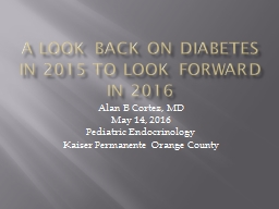 A Look Back on Diabetes in 2015 to Look Forward in 2016