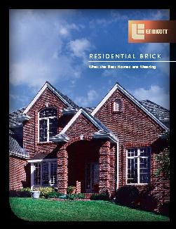 RESIDENTIAL B ICK What the Best Homes are Wearing Endicott Residential Brick Endicott Residential Brick vailable in a myriad of shapes textures and dazzling colors ndicott residential brick products a