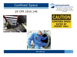 PPT-004-04  1 Confined Space PowerPoint PPT Presentation