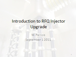 Introduction to RFQ Injector Upgrade