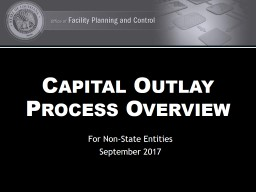 Capital Outlay Process Overview