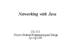 Networking with Java