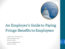 An Employer's Guide to Paying Fringe Benefits to Employees PowerPoint PPT Presentation