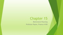 Chapter 15 Retirement Planning