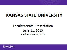 KANSAS STATE UNIVERSITY PowerPoint PPT Presentation