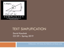 Text Simplification