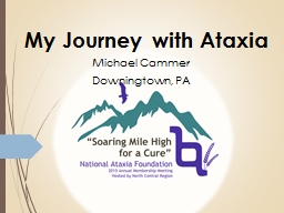 My Journey with Ataxia