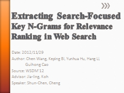 Extracting Search-Focused
