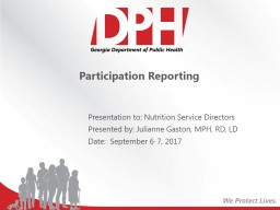 Participation Reporting