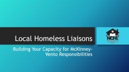 Local Homeless Liaisons
