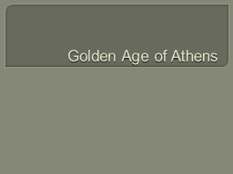Golden Age of Athens