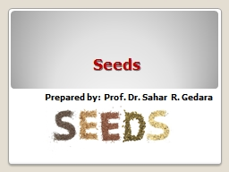Seeds Prepared by: Prof. Dr.