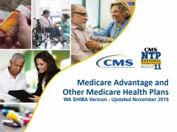 Medicare Advantage and Other Medicare Health Plans