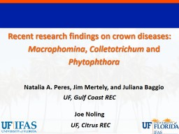 Recent research findings on crown diseases: