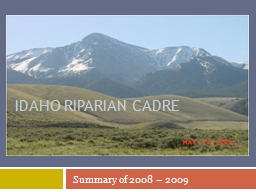 Idaho Riparian Cadre PowerPoint Presentation, PPT - DocSlides